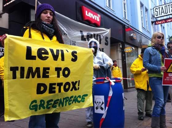 Trujące związki chemiczne w ubraniach marki Levis